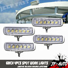 4 Pack Black Spreader LED Deck Marine Lights for Boat Flood Light 12V 18W