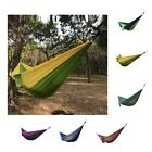 Outdoor Portable Parachute Nylon Fabric Hammock for 2 Person Travel Camping