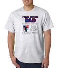 USA Made Bayside T shirt Police Officer Dad Most People Meet Hero Raised Mine