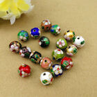 Mixed Cloisonne Carve Flower Charms Spacer Beads - Choose 6mm 8mm 10mm