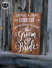 LARGE Rustic Primitive Sign Choose A Seat Wedding Love Farmhouse Distressed Wood