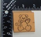 Rubber Stampede Lucy Rigg Teddy Bear Bow Rubber Stamp