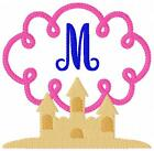Sand Castle Swirl Machine Embroidery Monogram Font Designs CD Joyful Stitches