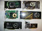 LOT OF 6 GRAPHICS CARDS EVGA 550  9500 GT XFX 9600 MSI NVIDIA 9600 PNY XFX