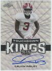 CALVIN RIDLEY 2018 LEAF METAL DRAFT SILVER WAVE TD KINGS REFRACTOR AUTO ALABAMA
