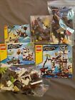 3 loose complete Lego pirate set lot soldiers fort, outpost, shipwreck defense