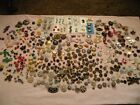 NICE LARGE BUTTON LOT 4lbs Victorian Glass Metal Rhinestone Story Lucite MOP 600