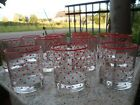Lot Vintage Red White Polka Dot Drinking Glasses Set Of 13 Glass Rockabilly