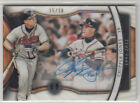 2018 TRIBUTE CHIPPER JONES GENERATIONS OF EXCELLENCE AUTO CARD 15 30 SHADOWBOX