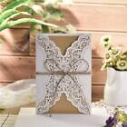 10pcs Laser Cut Wedding Invitations Cards Greeting Card Envelope Party Supplies