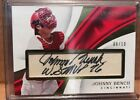 JOHNNY BENCH 2017 IMMACULATE AUTO 8 10 GOLD INSCRIPTION AUTOGRAPHED