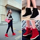 Fashion Womens Sneakers High Top Lace Up Athletic Shoes Lady Wedge Ankle Boots