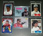 Jeff Gordon rookie card and autograph lot. 1987 World of Outlaws. 6 cards total.