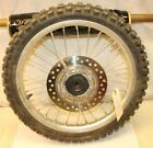 2001 HONDA CR80R   FRONT WHEEL ASSEMBLY  (WORN TIRE & SMALL CRACK)