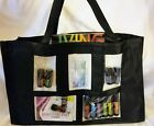 Black Clear Photo Pocket Samples Party Consultant Tote Purse Brag Bag Scrapbook