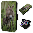 ADORABLE DONKEY AND FOAL FLIP PHONE CASE COVER WALLET CARD HOLDER 2018