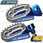 Apico Pro Bite Blue Wide Footpegs Pegs For Yamaha WR 450F 2018