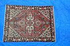 Semi Antique Persian Rug 5x6.6 as is