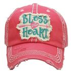 Southern Style Bless Your Heart Embroidered Adjustable Hat Pink