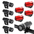 4 x Waterproof Lamp Bike Bicycle Front 5 LED Head Light + Rear Safety Flashligh