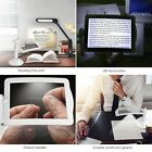 Handsfree 3X Magnifier 2 LED Magnifying Loupe Glass Desk Light Reading Lamp YX