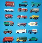 VINTAGE LESNEY MATCHBOX LOT OF 18 CARS TRUCKS WITH NO8 MUSTANG CASE