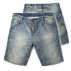 G STAR RAW JEANS SHORTS MOTOR TAPERED EMBRO BLUE VINTAGE DENIM W36