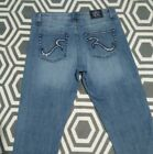 Rock & Republic Kasandra Size 10M Embellished Distressed Denim Boot Cut Jeans