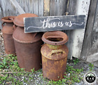 LARGE Rustic Primitive Sign This Is Us Country Farm House Love Distressed Wood