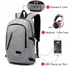 Anti Theft Laptop Backpack, Business Travel Slim Durable Laptops Backpck w/ USB