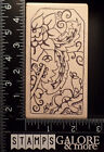 MAGENTA NEW RUBBER STAMPS BOTANICAL SWIRLS GARDEN FLOWERS GIFT TAG LABEL