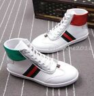Hot Mens White board shoes High Top Ankle Boots Sneakers Leather Lace Up Casual