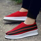 New Mens Breathable Platform Casual Shoes Running Sneakers Sport Driving Slip on