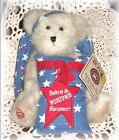 Longaberger Boyds 2008 Star Beary Proud Stars Stripes Teddy Bear Angel NEW RARE