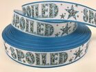 By The Yard Blue 5 8 Dog Spoiled Grosgrain Ribbon Scrapbooking Dog Collars Lisa