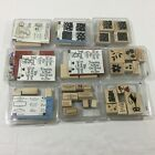 Lot Of 9 Stampin Up Wooden Stamp Sets Scrapbooking Crafts 54 Stamps Total