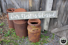LARGE Rustic Primitive Wood Sign Our Nest Is Blessed Country FARM HOUSE Kitchen