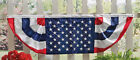 AMERICAN FLAG BUNTING BANNER 4TH of JULY DECOR 5 FT BUNTING EMBROIDERED