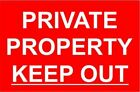 Sticker / Decal Scan 1652 rivate Property Keep Out 30x20cm KP653