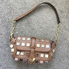 Temperley London Tan Brown Studded Small Clutch Shoulder Bag new