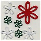 PAPA NOEL FIESTA FELT FLOWERS  SELF ADHESIVE  3 SIZES  COLORS  REDUCED