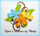 CRAFTECAFE MINDY BEACH FLOWERS VACATION premade paper piecing scrapbook die cut