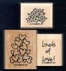 LOADS of LOVE HEARTS PILE Flowers words PICK UP truck STAMPIN UP RUBBER STAMP