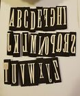 used abc foam stamps letters numbers funky USED