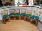Vtg mid century modern dining chairs bent wood 60's set 6 Portland OR, P/U