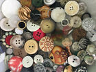 INCREDIBLE MIX 100 pcs MIXED LOT of OLD VINTAGE  NEW Buttons ALL TYPES  SIZES