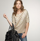 JCREW Goldenrod brocade top 0 XS Metallic gold floral blouse