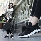 Fashion Letter Print Women Sports Shoes Front Lacing Students Sneakers RT