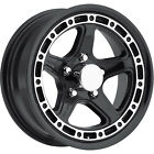 15x6 Black Sendel T11 Wheels 5x45 +0 Lifted FORD EXPLORER RANGER