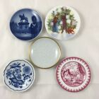Porcelain 3 inch Butter Pat Dishes Small Assorted Plates Vintage Lot of 5